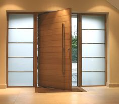 Unique custom Made Pivot Doors from wood and aluminum. We are working with our…