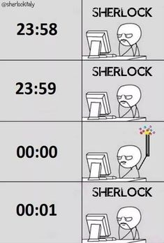 "Literally what I did this new year. It was the Fall too, and John literally said ""Sherlock is dead"" right at midnight lol"