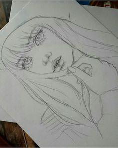 🔥 ℳy ℒiƒℯ ℳy ℛuℓℯs 🔥 Girl Drawing Sketches, Art Drawings Sketches Simple, Pencil Art Drawings, Beautiful Drawings, Cute Drawings, Art Du Croquis, Kpop Drawings, Art Sketchbook, Drawing People