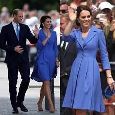 Her outfit pays tribute to Germany's national flower, that is the cornflower