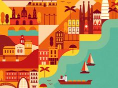 Hola! Travel to Spain with this map we illustrated for Monocle