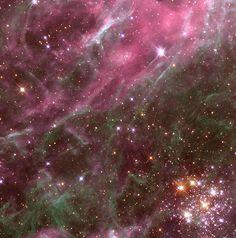 Stars in the Tarantula Nebula (NASA, Hubble, Aura, 04/01/99) by NASA's Marshall Space Flight Center, via Flickr