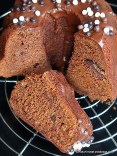 Schokolade + Nougat + Kuchenteig = saftiger Schoko-Nougat-Guglhupf - Schokohimmel