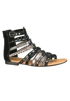 drea gladiator sandal in black  (original price, $34) available at #Maurices