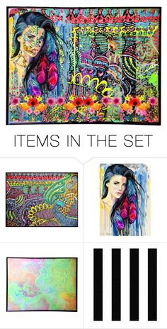 """""""Boho Neon"""" by beanpod ❤ liked on Polyvore featuring art"""