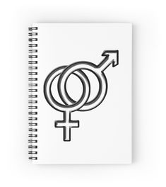 * Symbol for Women and Men Spiral Notebooks by #Gravityx9 #Redbubble #Symbolical ~ 120 pages/Choice  of ruled or graph pages.* school supplies notebooks stationery * back to school needs *  school supplies * school supplies notebooks * back to school shopping * back to school notebooks * back to school supplies * school notebooks * school notebook ideas * back to school essentials * stationery supplies * school bullet journaling * back to school journal * bullet journal * school journal *