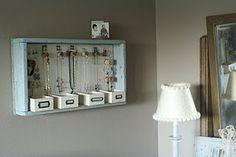 DIY jewelry storage solution. <3 #home #storage #DIY