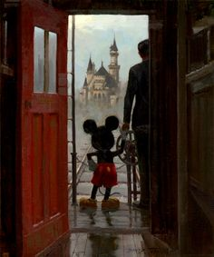 Walt and Mickey....not ashamed to admit this makes my heart skip a beat. :) Thanks Michelle! @chachibear