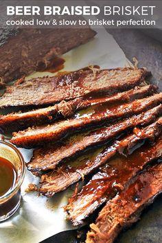 Beef Brisket Recipes, Beer Recipes, Slow Cooker Recipes, Slow Roast Beef Brisket, Grilled Recipes, Spinach Recipes, Corned Beef, Crockpot Meals, Pork Recipes