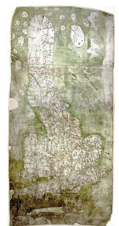 Gough Map first known full map of Britain 1350