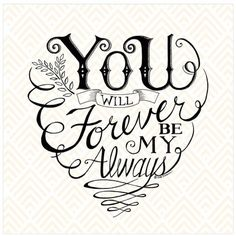 """Decorate your home or office walls with the """"You and Me Forever"""" Canvas Wall Art from Courtside Market. Featuring a sweet, sentimental message, this lovely piece can be personalized with a name and date for a custom touch. Forever And Always Tattoo, Forever Tattoo, Abstract Canvas, Canvas Wall Art, Love Quotes, Inspirational Quotes, Heaven Quotes, Badass Quotes, Girl Quotes"""