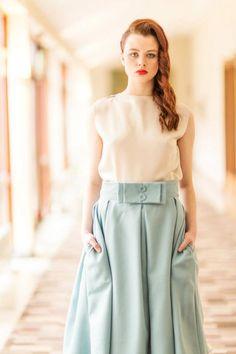 inspiration skirt www.ie bespoke Irish designs Waist Skirt, High Waisted Skirt, Irish Design, Bespoke, 1950s, Women Wear, Skirts, Inspiration, Collection