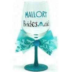 Head Over Heels Bridesmaid Wine Glass #bridesmaid #gift