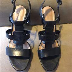 Black leather Franco Sarto heels! Black leather Franco Sarto heels! Make an offer!! Franco Sarto Shoes Heels
