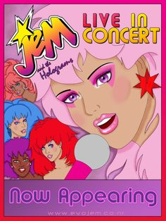 Jem and the Holograms Concert by evolutionbs on DeviantArt Jem And The Holograms, Best 80s Cartoons, Jem Et Les Hologrammes, Lady Lovely Locks, 1980s Kids, 80 Tv Shows, Josie And The Pussycats, Back In My Day, Care Bears