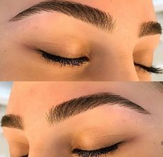 celebrities who underwent eyebrow microblading – My hair and beauty Mircoblading Eyebrows, Eyebrows Goals, Arched Eyebrows, Natural Eyebrows, Thick Eyebrows, Threading Eyebrows, Eyelashes, Eyeliner, Thick Eyebrow Shapes
