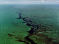 Edward Burtynsky - Oil Spill #10,  Oil Slick at Rip Tide, Gulf of Mexico, June 24, 2010