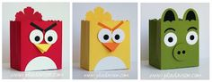 Angry Bird party favors with Stampin' Up! Fancy Favor Big Shot die and punches