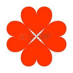 red heart. Vector icon illustrator EPS 10 photo