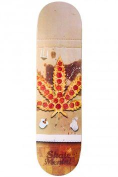 "Skate Mental Pizza Leaf 8.125"" Deck (multi)   #skatedeluxe #sk8dlx"