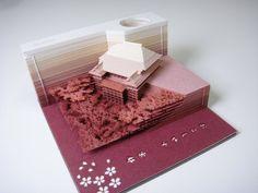 模型便签纸【OMOSHIROI BLOCK】创造的纸屋奇迹! - http://mag.moe/89714 #OMOSHIROIBLOCK 建筑模型屋×纸屋 强强合作!模型便签纸【OMOSHIROI BLOCK】获得超大人气~ 在使用便签纸的过程中使模型渐渐显露出来~用完之后有绝对的成就感!!!!~ 