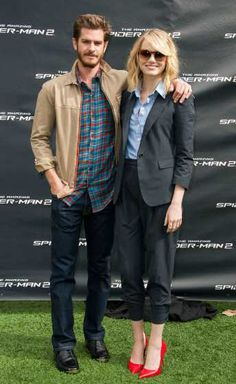 #AndrewGarfield and #EmmaStone pose at 'The Amazing Spiderman 2' Los Angeles Photo Call at #SonyPicturesStudios on November 16, 2013 in Culver City, Calif. http://celebhotspots.com/hotspot/?hotspotid=6517&next=1