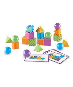 This is one of our current favorite things! My daughter is three and we are able to do lots of fun games with these blocks (including the cards inside). She loves it! :: Mental Blox Critical Thinking Game by Learning Resources (on zulily today)
