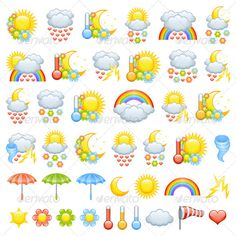 Love Weather Icons #GraphicRiver Love weather icons for valentine's day and weather icon parts to create Your own icons. Created: 22November11 GraphicsFilesIncluded: JPGImage #VectorEPS #AIIllustrator Layered: No MinimumAdobeCSVersion: CS Tags: cartoon #cloud #cloudy #crescent #emblem #fall #flower #heart #holiday #hurricane #icon #lightning #love #moon #rain #rainbow #sign #sun #sunny #symbol #thermometer #thunderbolt #thunderstorm #tornado #umbrella #valentinesday #vector #weather…