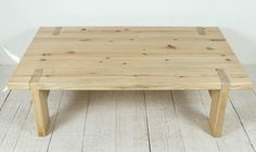 Tall Pine Coffee Table with Top Detail 6