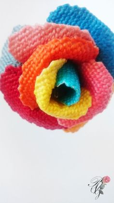 Multicolor needlepoint Rose | Percsi Art Needlepoint