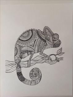 Camaleón Zentangle