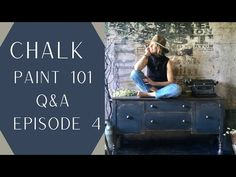 Chalk Paint 101 Questions et réponses: Épisode 4 - YouTube Dining Hutch, Blue Painted Furniture, Trash To Treasure, Annie Sloan Chalk Paint, Best Youtubers, Question And Answer, Chair Fabric, Wood Planks, Looking Up