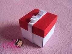 Convite de Caixinha Papel da tampa: telado vermelho Papel do fundo: vege branco Pedido minimo: 50 unidades R$ 2,50