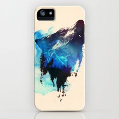 Alone as a wolf iPhone & iPod Case by Robert Farkas - $35.00