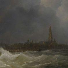 De ontploffing voor Antwerpen van kanonneerboot nr 2 onder commando van Jan van Speijk, 5 februari 1831, Martinus Schouman, 1832 - History scenes - Works of art - Explore the collection - Rijksmuseum