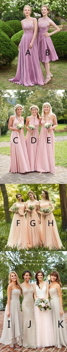 2018 Charming chiffon lace bridesmaid dresses, V-neck Spaghetti Strap sexy bridesmaid dresses, long Strapless bridesmaid dresses, BD0410