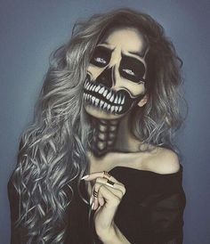 I Need Halloween Ideas - Find your perfect idea for Halloween - Halloween Makeup - Halloween Costumes - Halloween Decorations & Supplies ! This Is My Halloween Costume - Halloween T-shirt Designs Looks Halloween, Halloween Inspo, Halloween Cosplay, Scary Halloween, Halloween Face Makeup, Happy Halloween, Skeleton Halloween Costume, Halloween Music, Halloween 2016