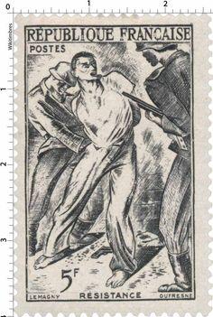 Timbre 1947 : RÉSISTANCE | WikiTimbres