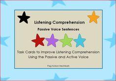 not free, Teaching Complex Sentences: Passive Voice Listening Compre Receptive Language, Speech And Language, Comprehension Activities, Reading Comprehension, Therapy Activities, Therapy Ideas, Complex Sentences, Auditory Processing, Speech Therapy