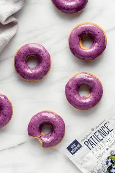Vegan blueberry donuts - Choosingchia