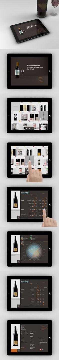 iPad app for wine tasters.