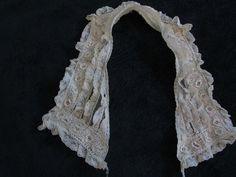 antique lace collar edwardian irish crochet by lacystuff on Etsy