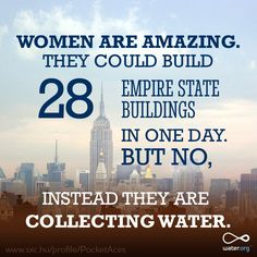The 200 million hours women spend collecting water could be used for so much more.