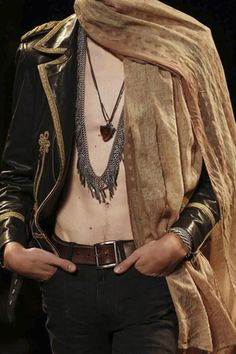 Detail - Saint Laurent Menswear Spring Summer 2015 Paris