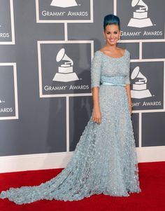 Katy Perry in ELIE SAAB Haute Couture Spring 2012 at the 54th Annual Grammy Awards.
