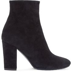Giuseppe Zanotti Black Suede High Ankle Boots ($780) ❤ liked on Polyvore featuring shoes, boots, ankle booties, black boots, suede booties, suede bootie, black bootie and high heel booties