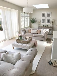 Home Tour Friday – Living Room – The Home That Made Me Shop now at www.wall… Home Tour Friday – Living Room – The Home [. Cottage Living Rooms, New Living Room, Small Living Rooms, Home And Living, Cosy Living Room Decor, Apartment Living, Kitchen With Living Room, Apartment Ideas, Hamptons Living Room