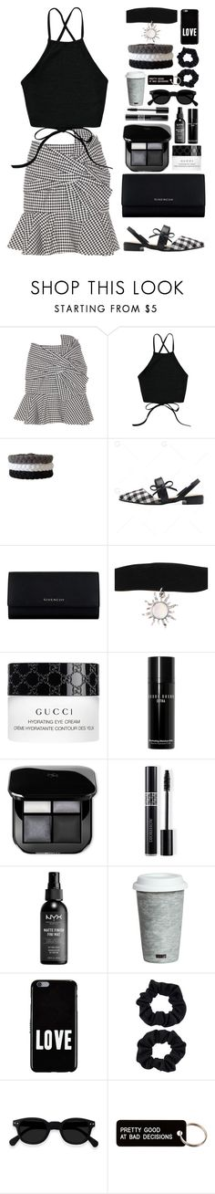 """""""Plaid Skirt"""" by gicreazioni ❤ liked on Polyvore featuring Veronica Beard, Givenchy, Hot Topic, Gucci, Bobbi Brown Cosmetics, Christian Dior, Fitz & Floyd, Accessorize and Various Projects"""