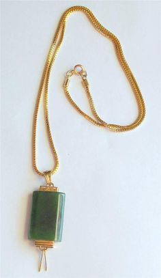 Necklace High Quality Vintage Natural Jade by colorsofthesouthwest, $35.49