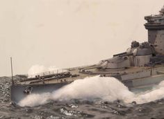 HMS Warspite 1/350 Scale Model